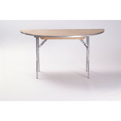 Maywood Furniture Standard Series Plywood Half Round Folding Banquet Table