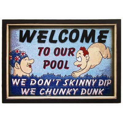 RAM Gameroom Products Chunky Dunk Pool Wall Sign