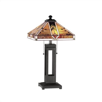 "RAM Gameroom Products Taliesin 22"" H Table Lamp with Square Shade"