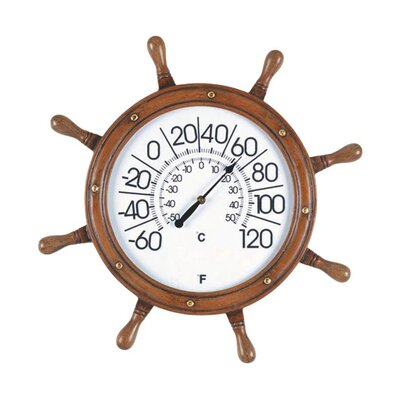 <strong>RAM Gameroom Products</strong> Captains Wheel Outdoor Thermometer