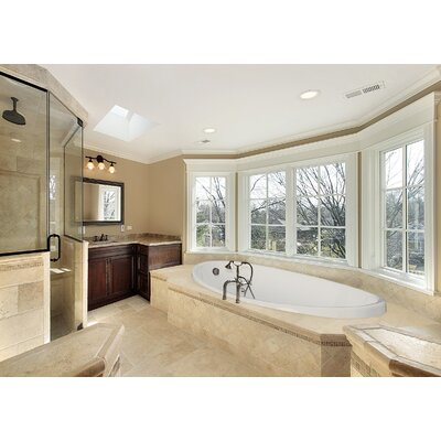 "Hydro Systems Designer Carl 60"" W X 36"" D Bath Tub with Combo System"
