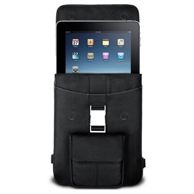 MacCase Premium Leather iPad Flight Jacket in Black