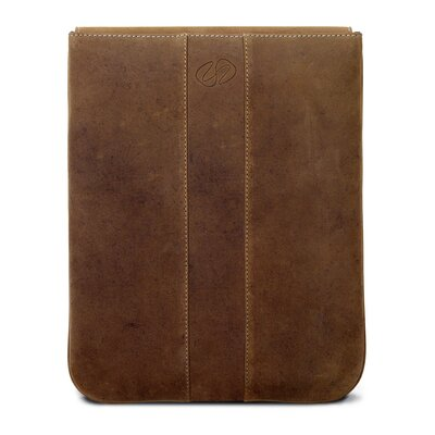 MacCase Premium Leather Vertical iPad Sleeve in Vintage