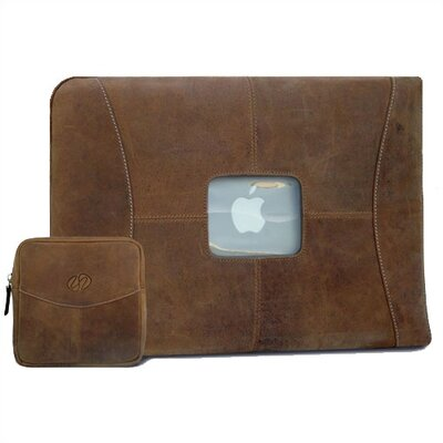 "MacCase 17"" Premium Leather Sleeve and Accessory Pouch Set in Vintage"