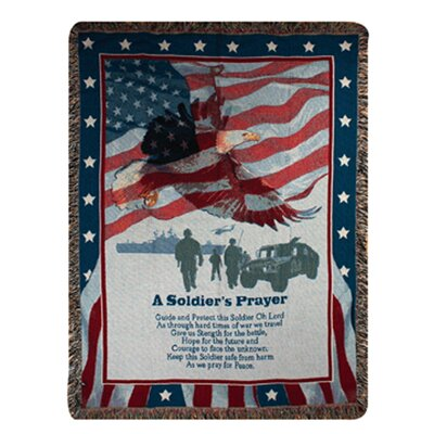 Manual Woodworkers & Weavers Soldier's Prayer Tapestry Cotton Throw