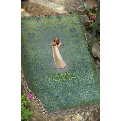 Manual Woodworkers & Weavers Willow Tree Angel of the Heart Tapestry Cotton Throw