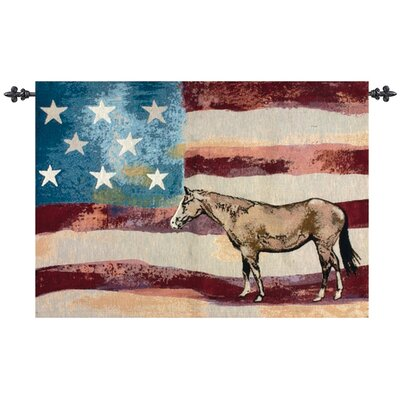 Manual Woodworkers & Weavers American Horse Tapestry