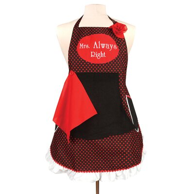 Manual Woodworkers & Weavers Mrs. Always Right Couples Apron