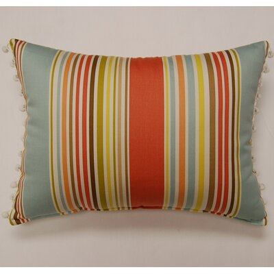 Deck Chair Ball Fringe Sea Glass Cotton Pillow (Set of 2)