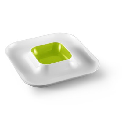 MEBEl Small Entities Square Appetizer and Dip Plate