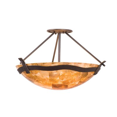 Kalco Aegean 3 Light Semi Flush Mount