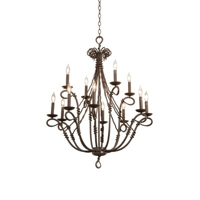 Kalco Vine 12 Light Chandelier