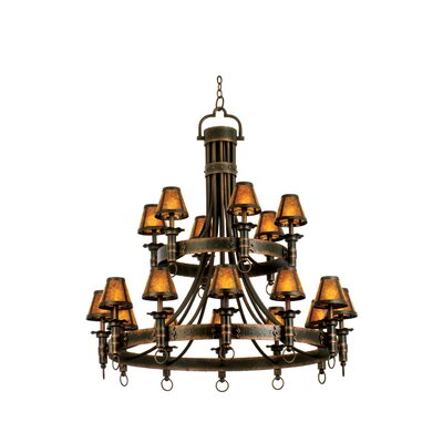 Kalco Americana 18 Light Chandelier