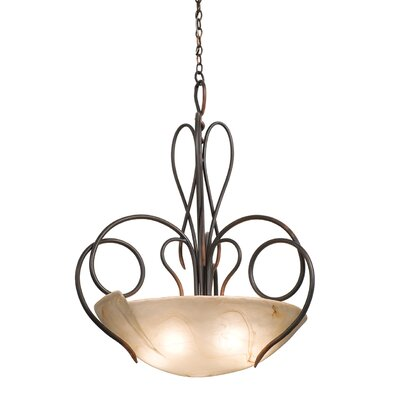 Kalco Tribecca 5 Light Bowl Inverted Pendant
