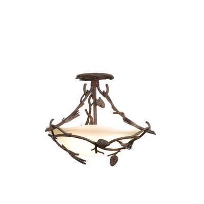 Kalco Ponderosa 3 Light Semi Flush Mount
