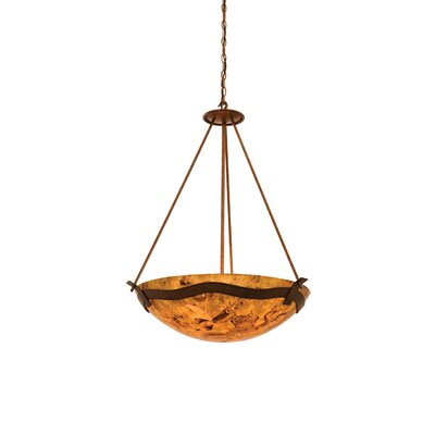 Kalco Aegean 5 Light Bowl Inverted Pendant