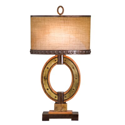 Kalco Aspen Two Light Oval Table Lamp in Royal Mahogany