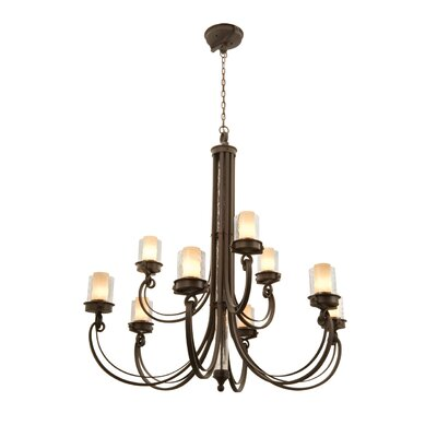 Kalco Newport 9 Light Chandelier