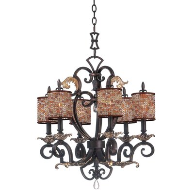 Kalco Chesapeake 6 Light Chandelier