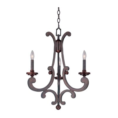 Kalco Strickland 3 Light Chandelier