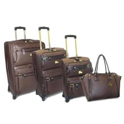 Adrienne Vittadini Union Square 4 Piece Luggage Set