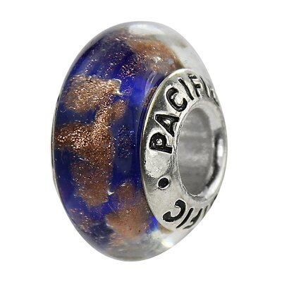West Coast Jewelry Pacific 925 Murano Sandy Beach Glass Bead