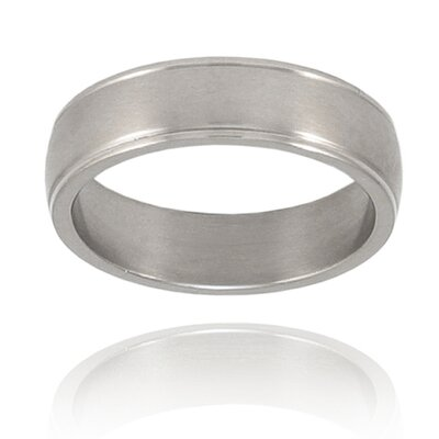 West Coast Jewelry Titanium Grooved Brushed and Polished Ring