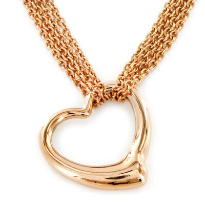 West Coast Jewelry Goldplated Stainless Steel Hearts Necklace