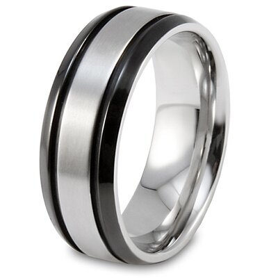 Stainless Steel Brushed Center Band Ring