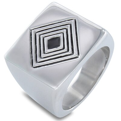 Men's Stainless Steel Multi-diamond Pattern Ring