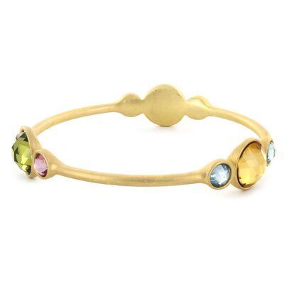 West Coast Jewelry Goldtone Gemstone Bangle Bracelet