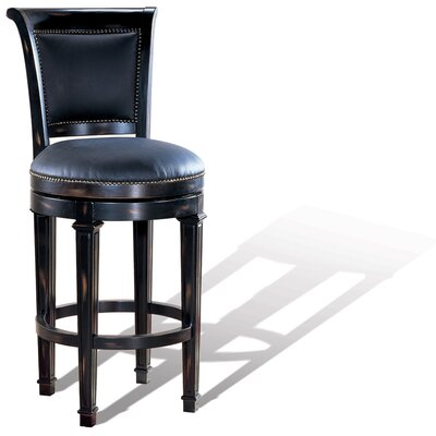 Windsor Swivel Bar Stool in Distressed Ebony