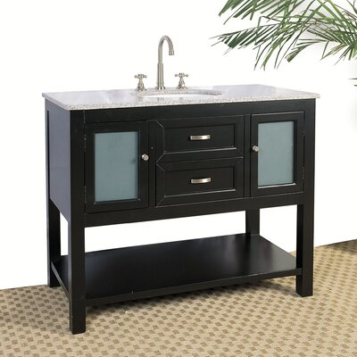 "Legion Furniture 42"" Hatherleigh Sink Chest in Ebony"