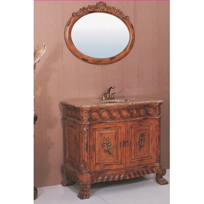 Legion Furniture Hatherleigh Sink Chest in Antique Brown