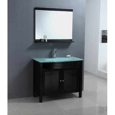 Legion Furniture 39&quot; Single Bathroom Vanity Set in Espresso