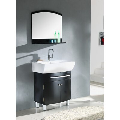 "Legion Furniture 27.5"" Single Bathroom Vanity Set in Espresso"
