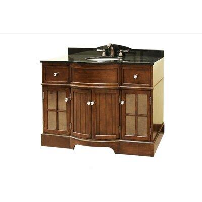 "Legion Furniture 49"" Single Bathroom Vanity Set with Granite Top"