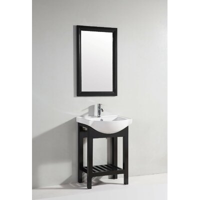 legion furniture 24 single bathroom vanity set with mirror features
