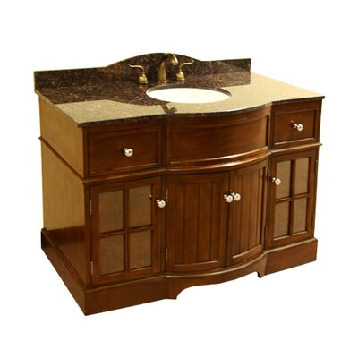 48 single sink vanity base wayfair. Black Bedroom Furniture Sets. Home Design Ideas
