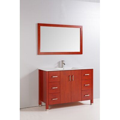 "48"" Solid Wood Bathroom Vanity Set"