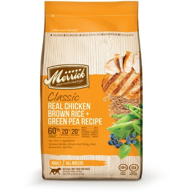 Merrick Pet Care Classic Adult Real Chicken, Brown Rice and Green Pea Dry Dog Food
