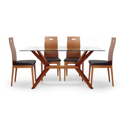 Aeon Furniture Angular 5 Piece Dining Set | Wayfair
