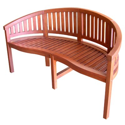 Jordan Manufacturing Curved Back Wood Garden Bench | Wayfair