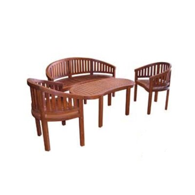 Jordan Manufacturing Kidney Shaped Dining Table Set