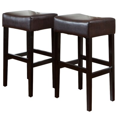 Home Loft Concept George Backless 31 Leather Bar Stool
