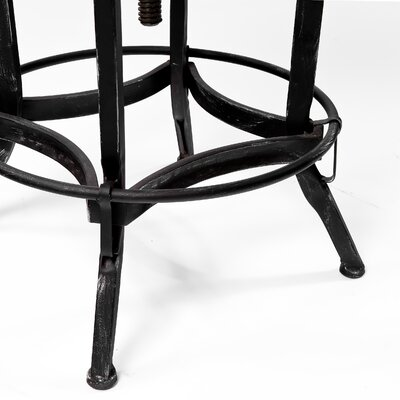 "Home Loft Concept Wright Weathered Oak 26"" Barstool"