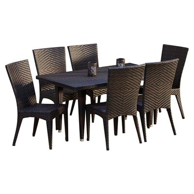 home loft concept edward 7 piece dining set reviews. Black Bedroom Furniture Sets. Home Design Ideas