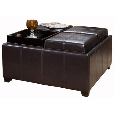 Home Loft Concept Four Sectioned Cube Storage Ottoman
