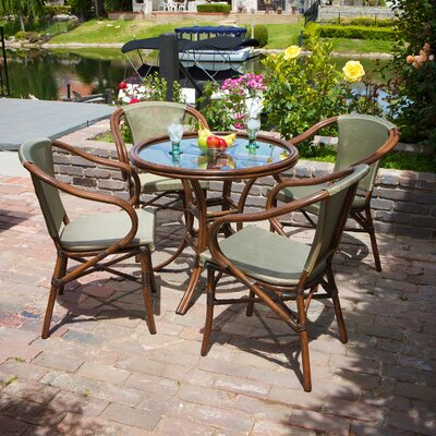 Home Loft Concept Bali 5 Piece Outdoor Dining Set