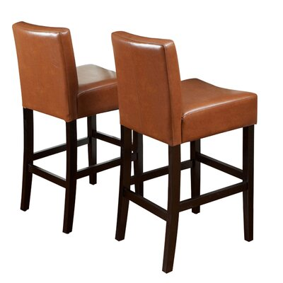 Home Loft Concept Classic Leather Bar Stool (Set of 2)